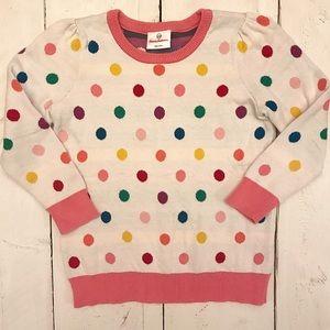 Hanna Andersson Rainbow Polka Dot Sweater 110